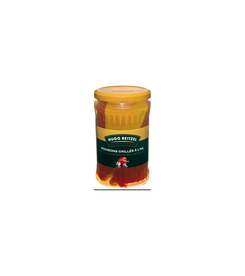 Gegrillte Peperoni mit Knoblauch