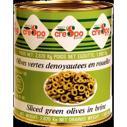 Oliven grün in Rondellen