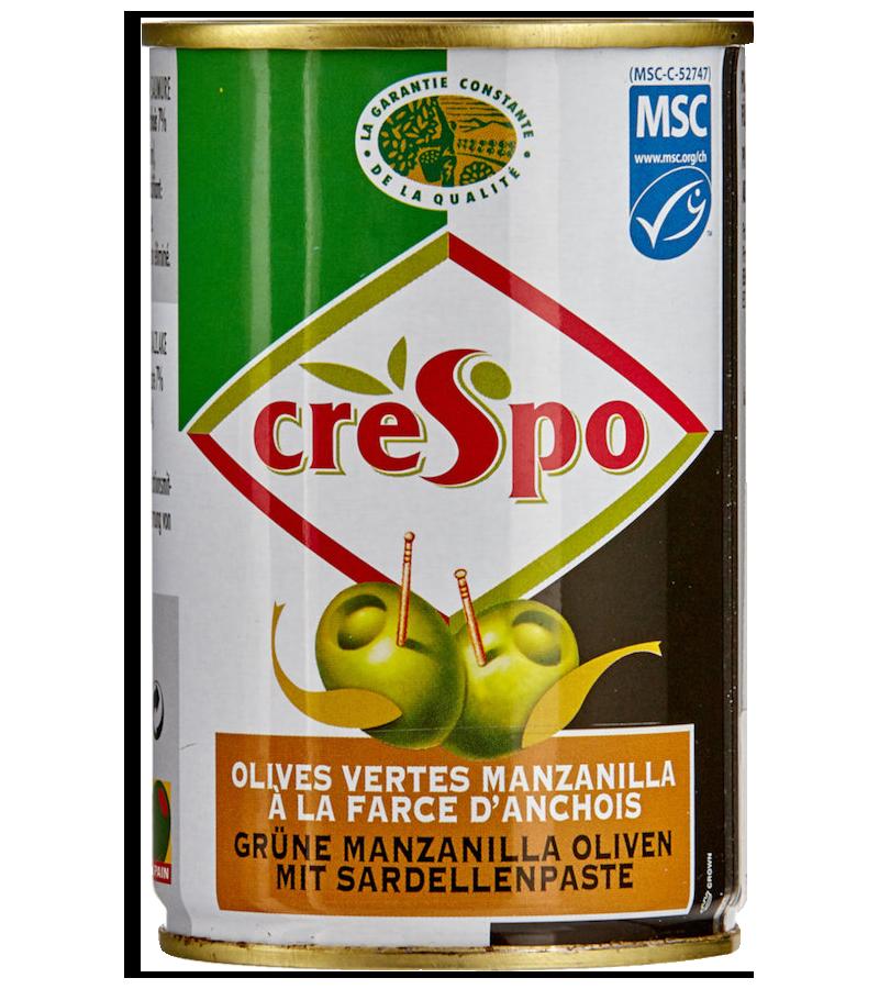 Olives vertes à la farce d'anchois