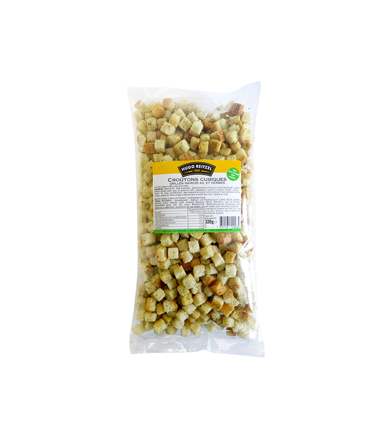 Knoblauch-Kräuter-Croutons